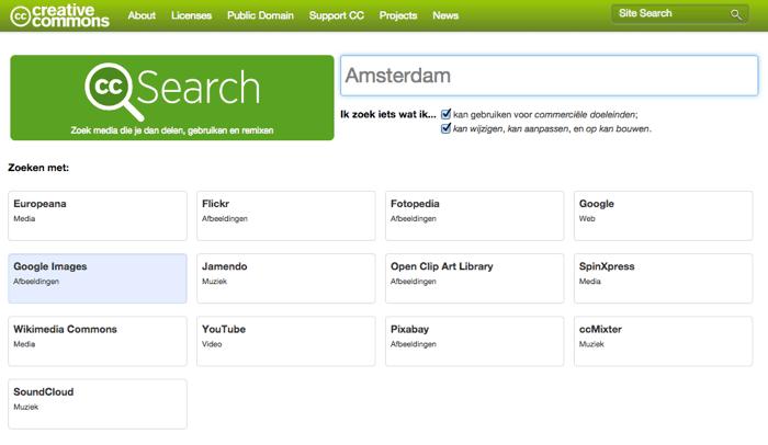 zoekopdracht creative commons amsterdam