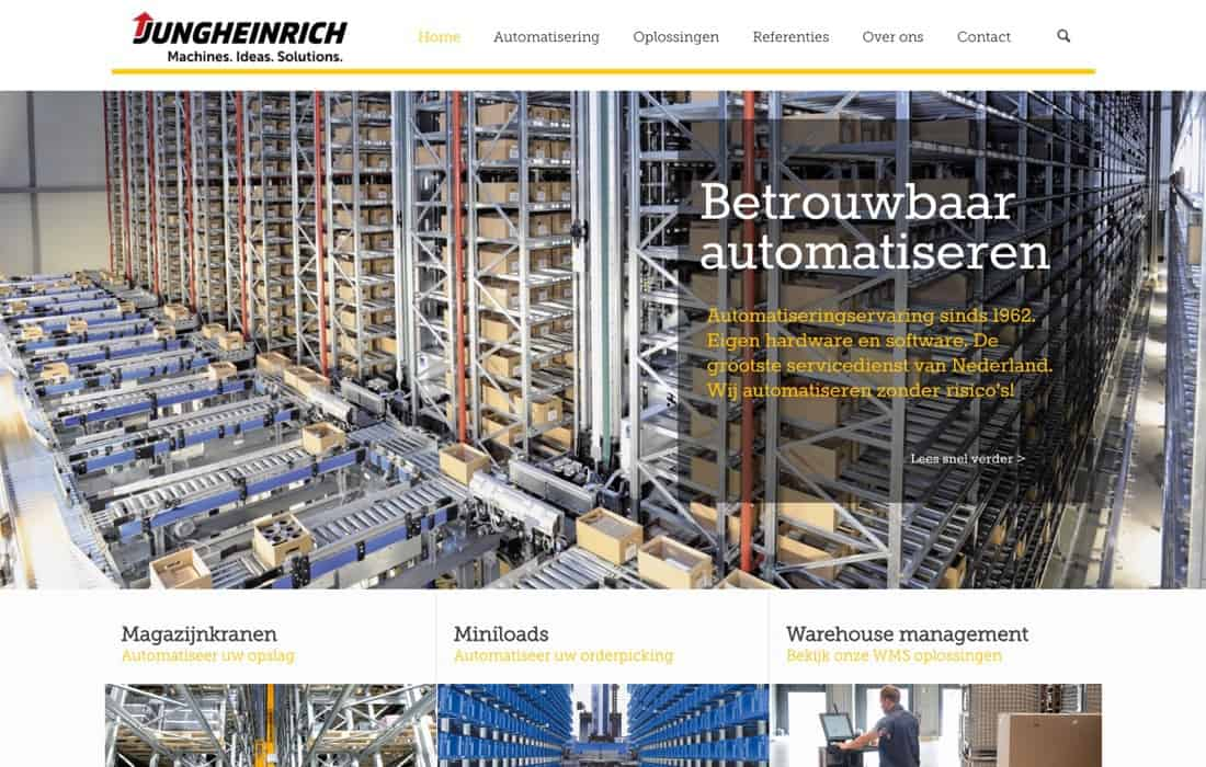 Jungheinrich website screenshot